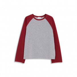 image of 撞色拚袖造型長袖T 二色售 Contrast Color Sleeves Long Sleeve T Two Colors