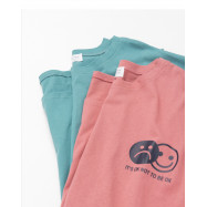 image of 笑臉哭臉印花長版棉T 兩色售 Smiley Face Printing Long Version Of Cotton T Two Colors