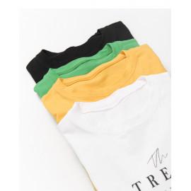 image of TREND字母短袖棉T 四色售 TREND Letter Short Sleeve Cotton T Four Colors