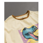 親子系列 恐龍撞色領棉T Parent-Child Series Dinosaur Contrast Color Collar Cotton T