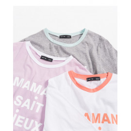 image of MAMAN配色領圓領T 三色售 MAMAN Color Collar Round Neck T Three-Colors