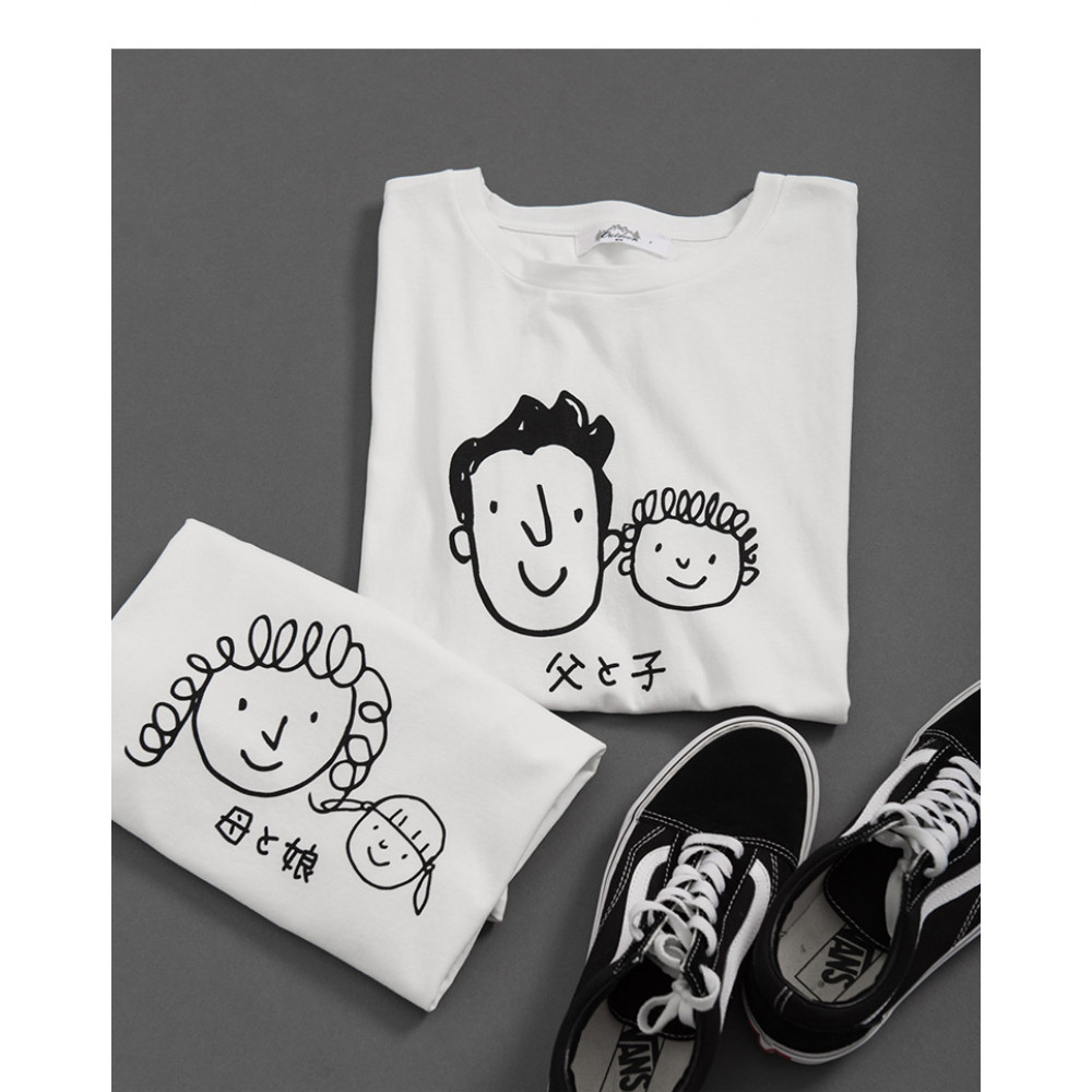 男裝 親子系列頭像圖棉T Men's Clothing, Parent-Child Series Avatar Cotton T