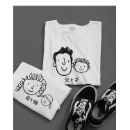 image of 男裝 親子系列頭像圖棉T Men's Clothing, Parent-Child Series Avatar Cotton T