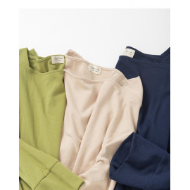 image of 基本百搭素面寬袖棉T 三色售 Basic Wild Plain Wide-Sleeved Cotton T Three-Colors