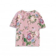 image of 彩繪花卉寬鬆短袖棉T Painted Floral Loose Short Sleeve Cotton T