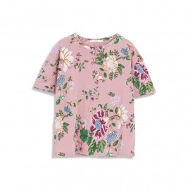image of 彩繪花卉寬鬆短袖棉T Painted Floral Loose Short Sleeve Cotton T