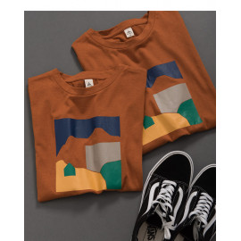 image of 親子系列 色彩幾何印花短T Parent-Child Series Color Geometric Print Short T