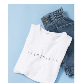image of 簡約刺繡字母短T Simple Embroidery Letter Short T