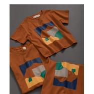 image of 童裝 親子系列色彩幾何印花短T  Children's Wear Parent-Child Series Color Geometric Print Short T