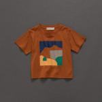 童裝 親子系列色彩幾何印花短T  Children's Wear Parent-Child Series Color Geometric Print Short T