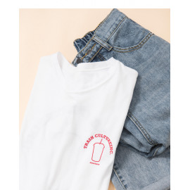 image of 皮杯子字母雙面印花短T Playful Cup Letters Double-Sided Printing Short T