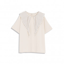 image of 點點領巾造型短袖上衣 Dotted Scarf Style Short Sleeve Top