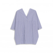 image of V領配色條紋上衣 V-Neck Color Matching Striped Top