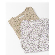 image of 滿版小碎花排釦造型上衣 兩色售 Full Version Of Small Floral Buttoned Blouse Two Colors