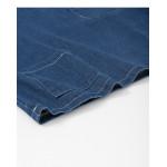 造型口袋寬鬆長袖牛仔上衣 Modeled Pocket Loose Long-Sleeved Denim Top