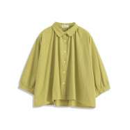 image of 基本素色連袖傘襬襯衫 Basic Plain Sleeved Umbrella Pendulum Shirt