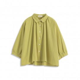 image of 基本素色連袖傘襬襯衫 Basic Plain Sleeved Umbrella Pendulum Shirt