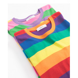image of 繽紛彩虹寬鬆上衣 兩色售 Colorful Rainbow Loose Tops Two-Colors
