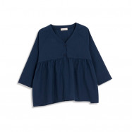 image of 素面V領娃娃裝上衣  Plain V-Neck Baby Top