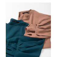image of 素面蓬袖設計雪紡上衣 兩色售 Plain Awning Design Chiffon Top Two Colors