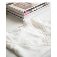 image of 質感簍空造型雪紡上衣 Textured Openwork Chiffon Top