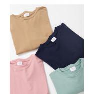 image of 素面圓領長袖衛衣 四色售 Plain Round Neck Long Sleeve Sweater Four Colors