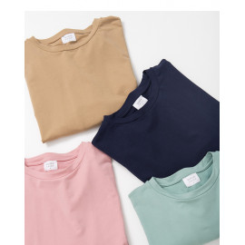 image of 素面圓領長袖衛衣 四色售 Plain Round Neck Long Sleeve Sweater Four Colors