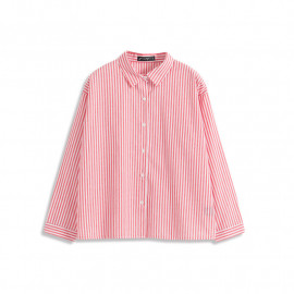 image of 糖果配色直條紋襯衫 Candy Color Straight Striped Shirt