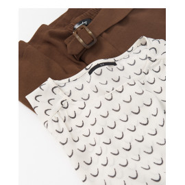 image of 滿版波浪短袖雪紡上衣 Full Version Of Wavy Short Sleeve Chiffon Top
