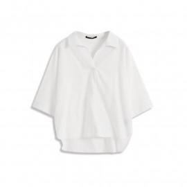 image of 簡約好感素色V領上衣 Simple And Nice Plain V-Neck Top