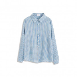 image of 配色小方格襯衫 两色售 Color Matching Small Checkered Shirt Two-Colors