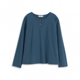 image of 基本百搭素色長袖竹節棉T 两色售 Basic Wild Plain Long-Sleeved Bamboo Cotton T Two-Colors