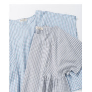 image of 春天配色格紋棉麻上衣 兩色售 Spring Color Check Cotton And Linen Tops Two-Colors