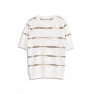 image of 配色條紋圓領針織上衣 两色售  Color Matching Striped Round Neck Knit Top Two-Colors