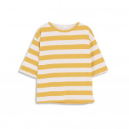 image of 休閒配色寬條紋圓領上衣 Casual Color Wide Striped Round Neck Top