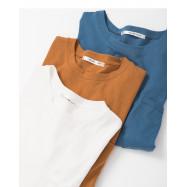 image of 基本百搭純色單口袋圓領上衣 三色售 Basic Wild Color Single Pocket Round Neck Top Three-Colors