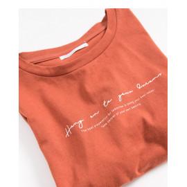 image of 草寫英文印花棉T Sketch English Printed Cotton T