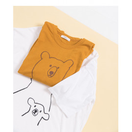 image of 熊熊印花造型短T 兩色售 Bear Print Short T Two Colors