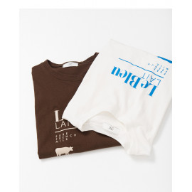 image of LE BLEU字母印花圓領棉T 兩色售 LE BLEU Letter Printed Round Neck Cotton T Two Colors