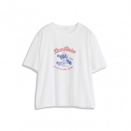 image of 跑車字母印花短袖棉T Sports Car Letter Printing Short Sleeve Cotton T