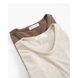 image of 素面混紗棉質短T 兩色售 Plain Mixed Cotton Short T Two Colors