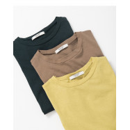 image of 圓領素面短T 三色售 Round Neck Plain Short T Three Colors