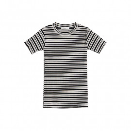 image of 撞色條紋合身上衣 Contrast Stripes Top