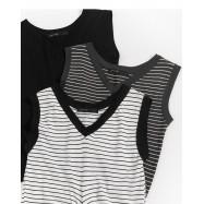 image of 扭結造型V領背心 三色售 Twisted V-Neck Vest Three-Colors