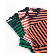 image of 配色條紋圓領上衣 三色售 Color Stripe Round Neck Top Three-Colors
