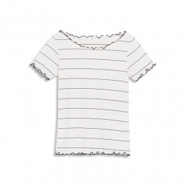 image of 滾邊坑條條紋短T Rolling Crater Stripe Short T