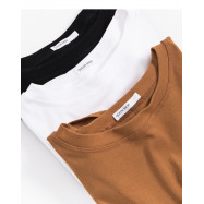 image of 下擺扭結造型短版上衣 三色售 Knee Kinked Short-Sleeved Top Three Colors