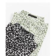 image of 滿版碎花雪紡無袖襯衫 兩色售 Full Version Of Floral Chiffon Sleeveless Shirt Two Colors