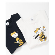 image of 查理.布朗打棒球短袖棉T 兩色售 Charlie. Brown Baseball Short-Sleeved Cotton T Two-Color
