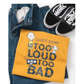 image of 查理‧布朗親子系列趣味聽音樂T恤 Charlie Brown Family Series Fun Listening Music T-Shirt